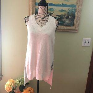 Anthropologie White Sleeveless Shirt SIze S